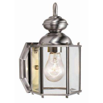 Augusta Satin Nickel Outdoor Wall-Mount Downlight