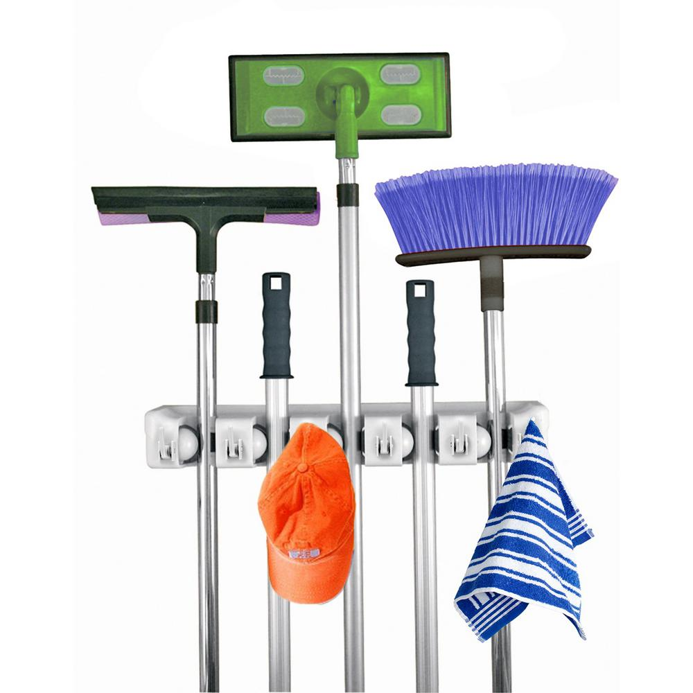 Home It Mop And Broom Holder 205 The Home Depot
