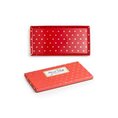 Soiree Rouge Red Tray