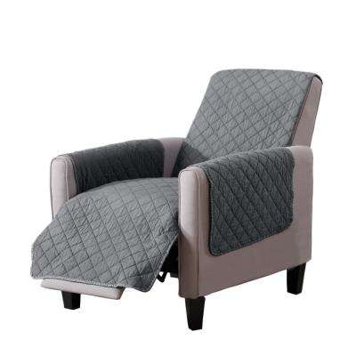 Laurina Collection Storm Grey Stonewashed Reversible Recliner Furniture Protector
