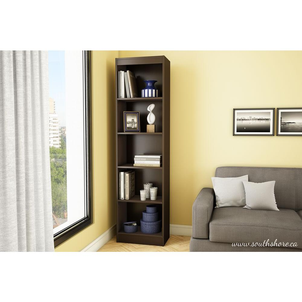 Perfect South Shore Axess 5 Shelf Bookcase In Chocolate