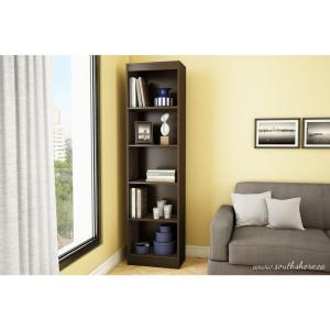 axess 5shelf bookcase in chocolate
