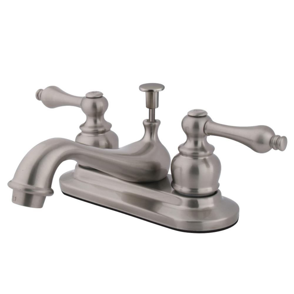 Restoration 4 in. Centerset 2-Handle Bathroom Faucet in Brushed Nickel