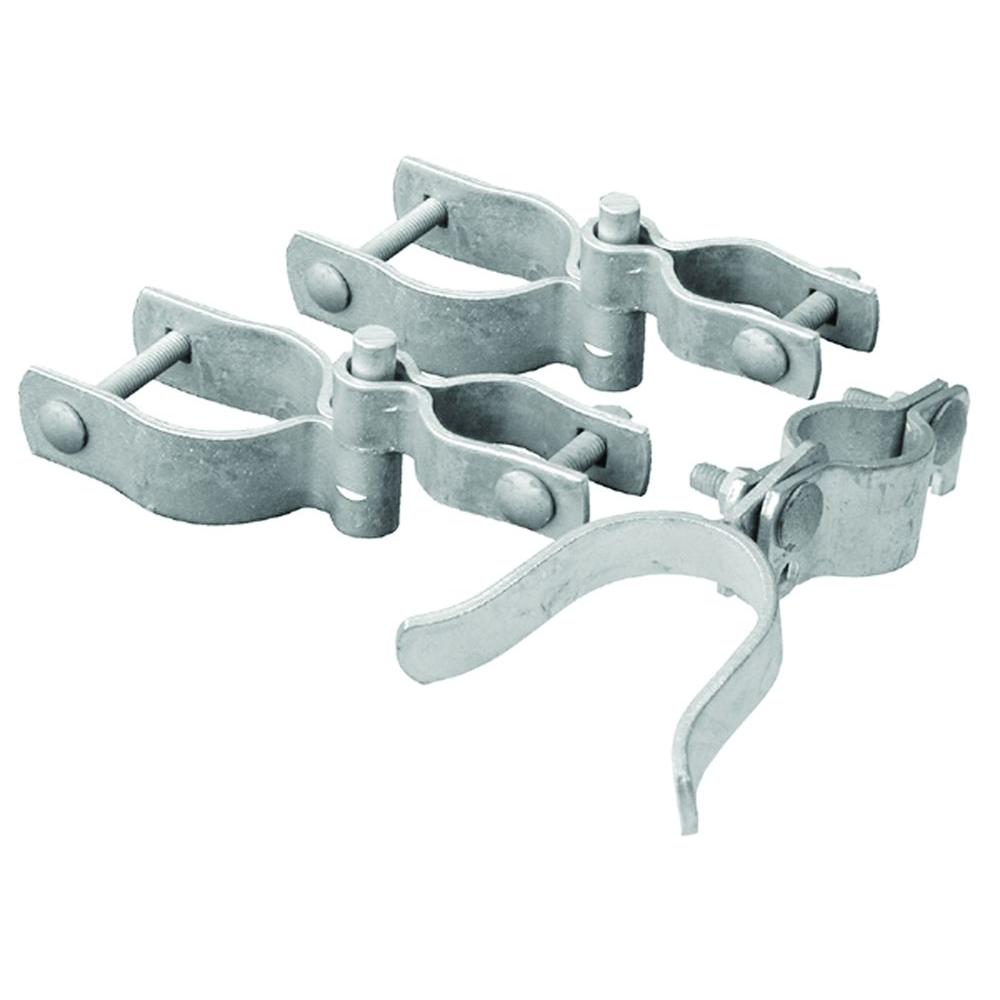 2-3/8 in. Chain Link Galvanized Walk-Through Gate Hardware Set