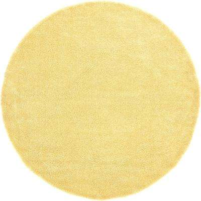 Solo Yellow 8 Ft. X 8 Ft. Round Area Rug