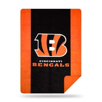 Bengals Multi Color Acrylic Sliver Knit Throw