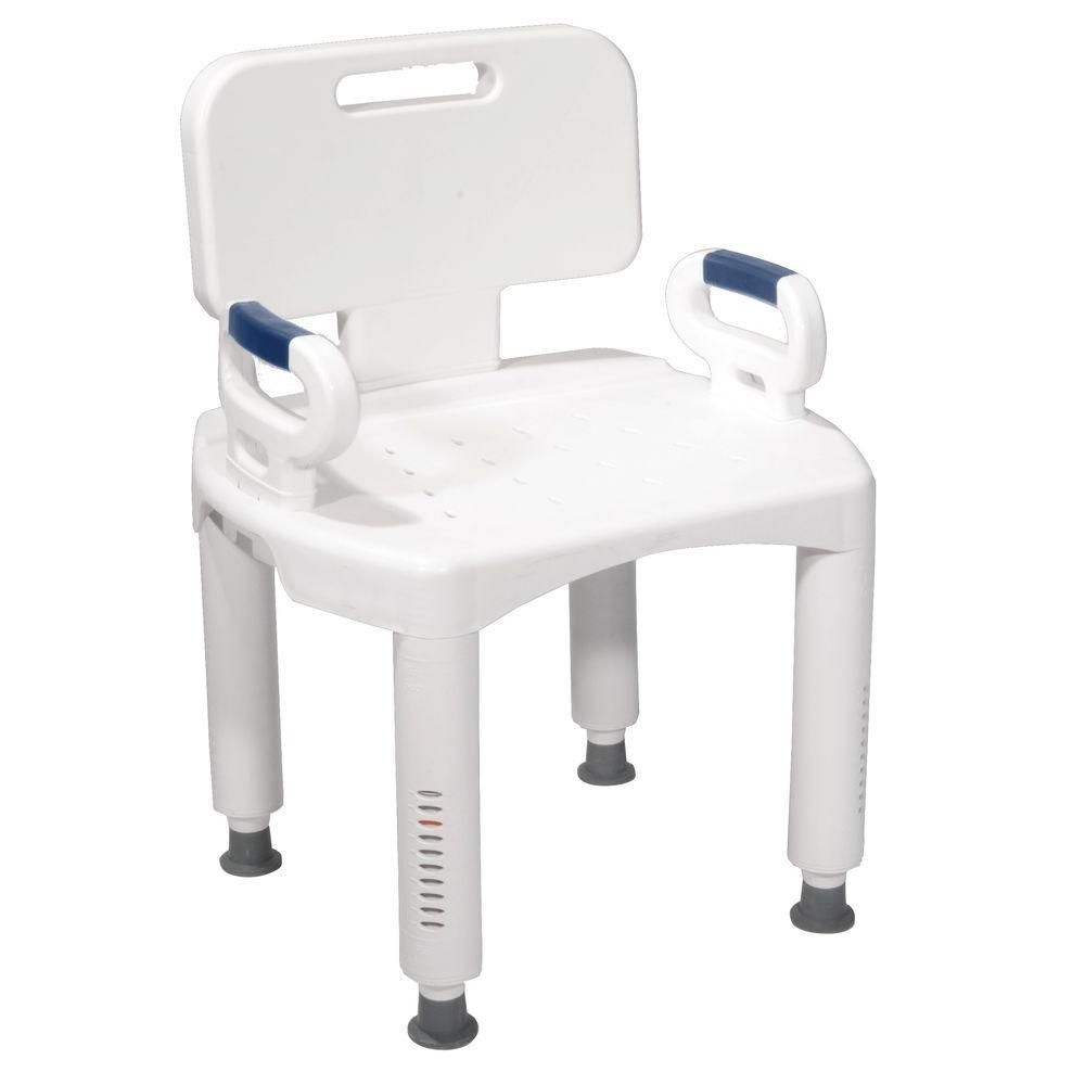 Drive bath bench with back and arms rtl12505 the home depot Bath bench