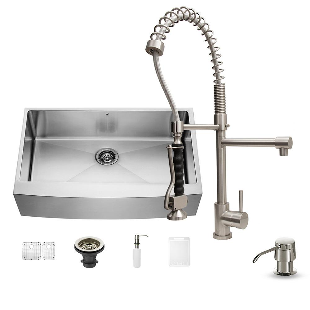 kitchen sink set vigo all in one undermount stainless steel 36 in single 2874