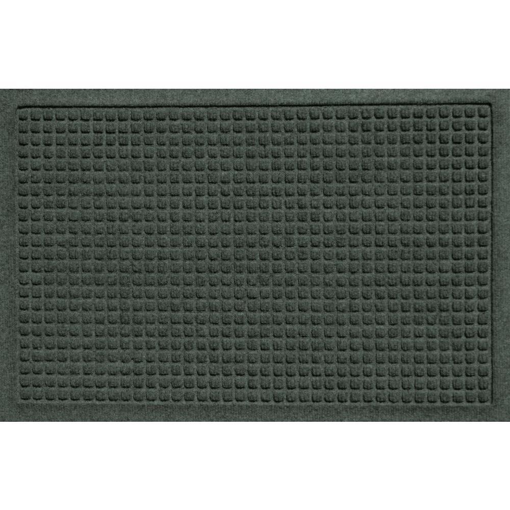 Bungalow Flooring Aqua Shield Squares Evergreen 17.5 in. x 26.5 in. Door Mat