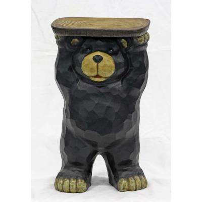 Bear Plant Stand Statue