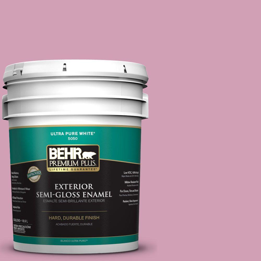5-gal. #M130-4 Raspberry Smoothie Semi-Gloss Enamel Exterior Paint