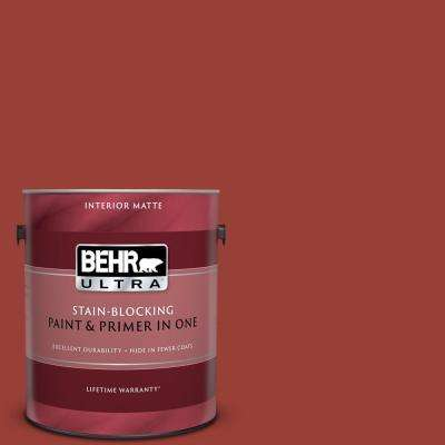 1 gal. #S-H-190 Antique Red Matte Interior Paint and Primer in One