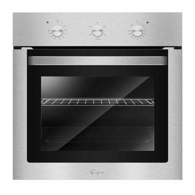 24 in. 2.3 cu. ft. Single Electric Wall Oven with Economy 4 Cooking Functions in Stainless Steel