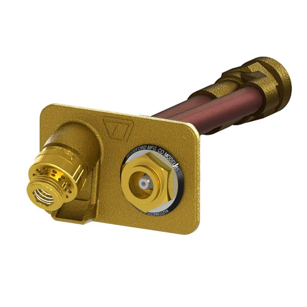 3/4 in. FPT x 12 in. Freezeless Brass Anti-Siphon Brass Wall