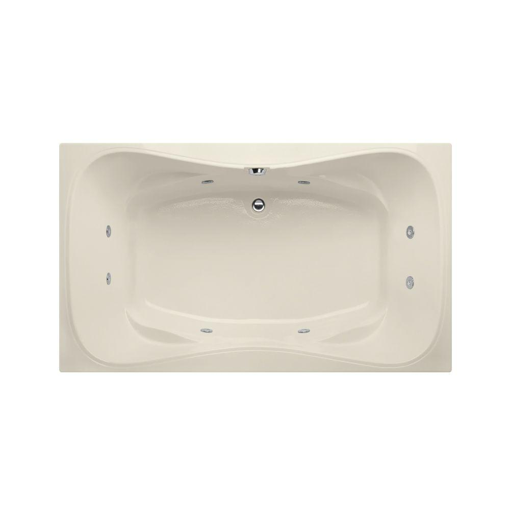 Providence 6 ft. Reversible Drain Whirlpool Tub in Biscuit