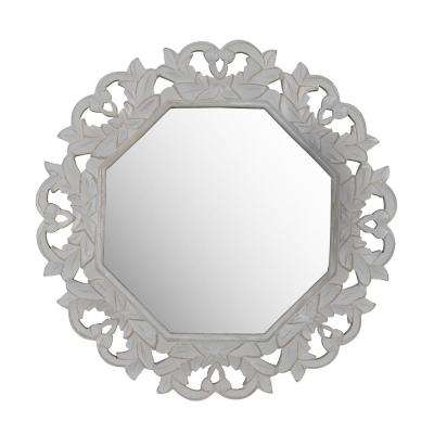 Tull Grey Carved Mirror