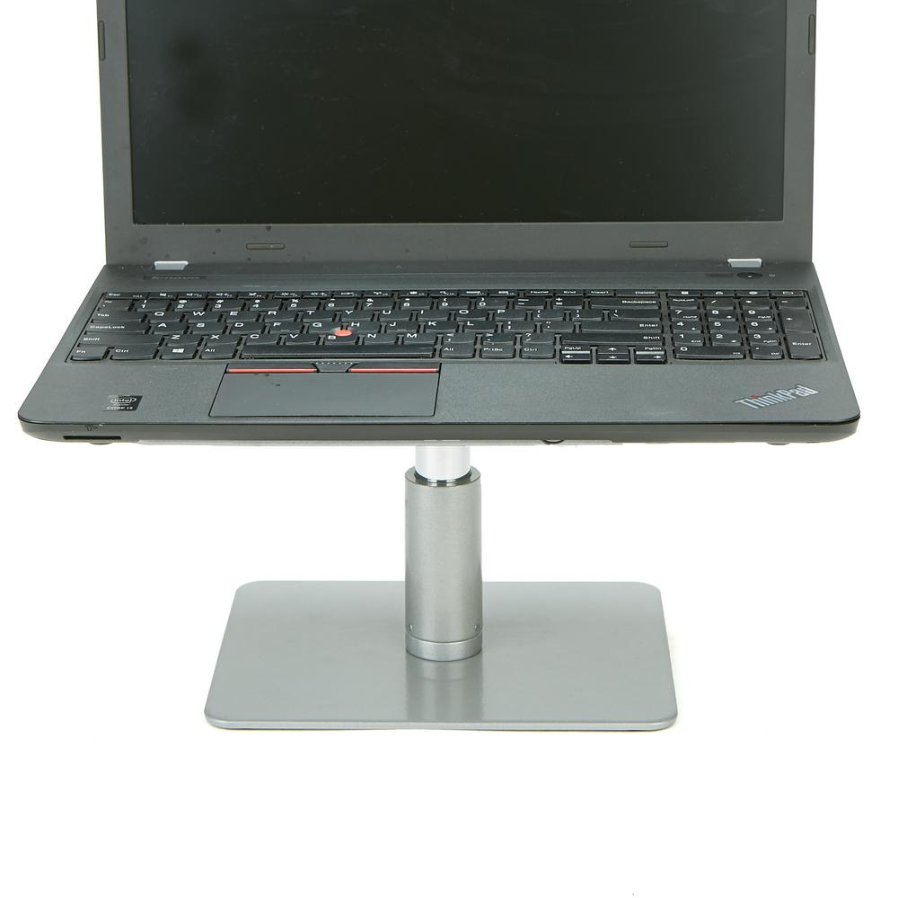 Mind Reader Table Top Monitor Riser Metal Laptop Stand Adjule Silver With Black