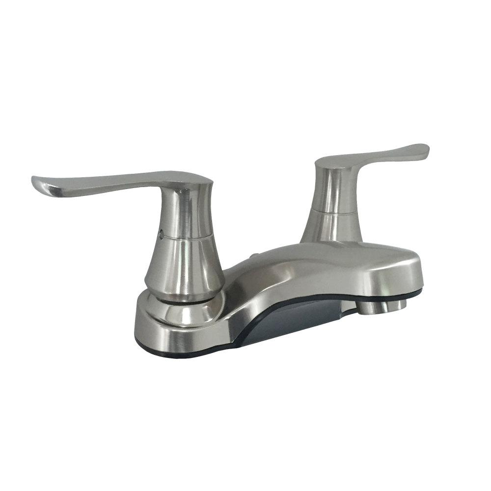 Empire Brass RV 4 in. Brushed Nickel Non-Metallic Bathroom Faucet with Solid Saber Handles