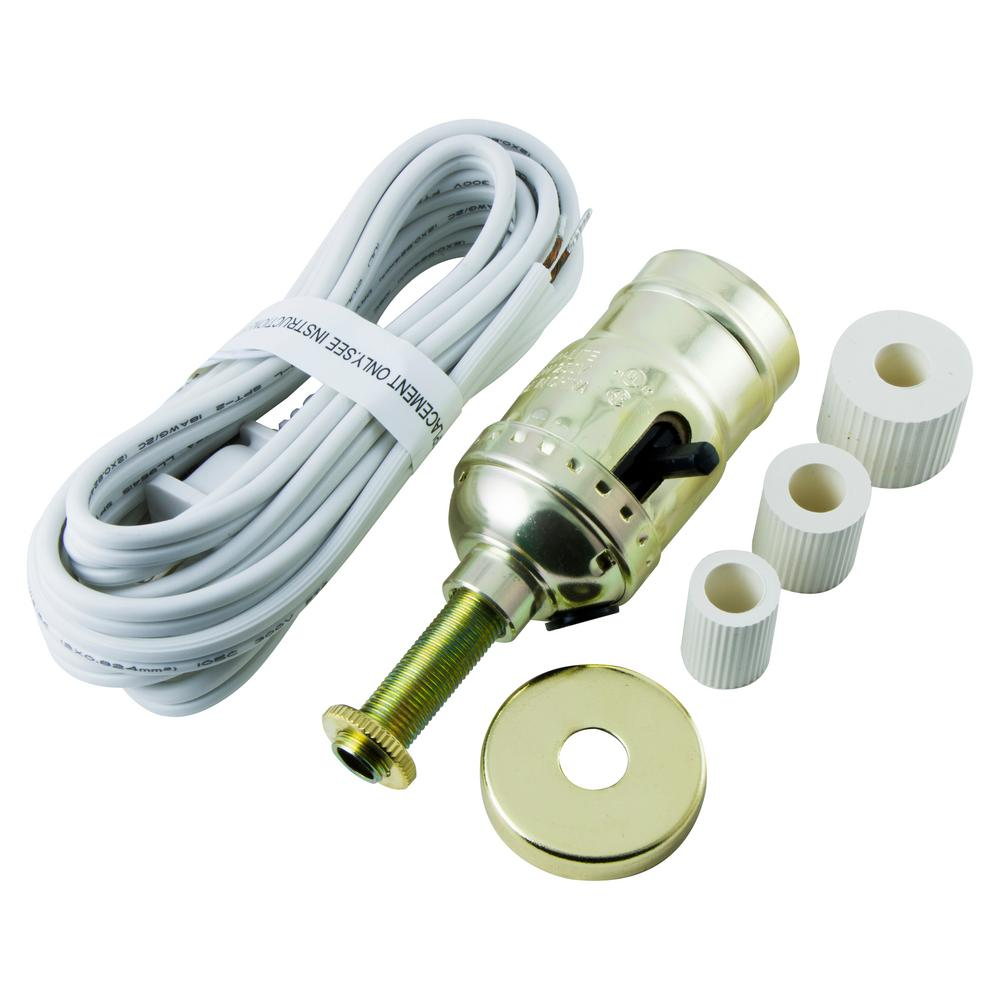 Attractive GE Bottle Lamp Kit Cord, White