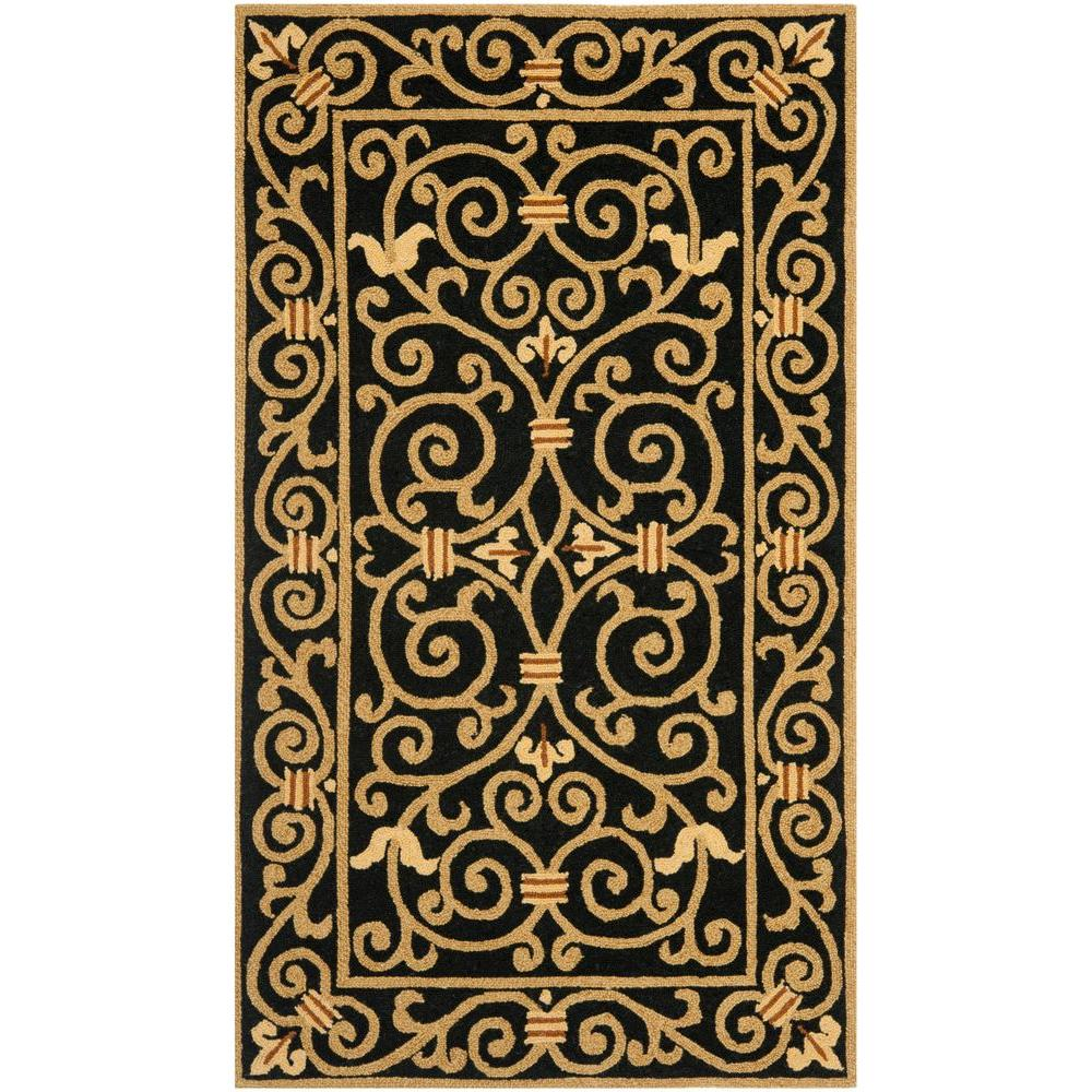 Safavieh Chelsea Black 2 ft. 9 in. x 4 ft. 9 in. Area Rug