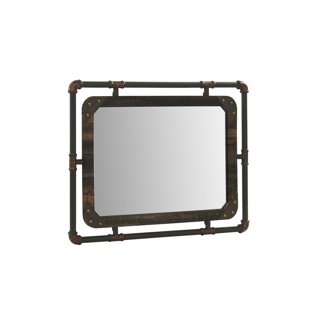 Sarver Rectangle Rustic Decorative Wall Mirror