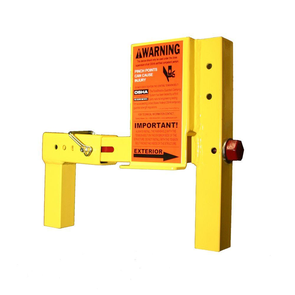 ParaShield 1 Unit Yellow OSHA Compliant Non-Penetrating Guardrail Clamp for Vertical Walls and Flat Roof Parapet Walls-DISCONTINUED