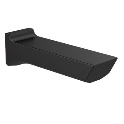 Pivotal 9 in. Non-Diverter Tub Spout in Matte Black