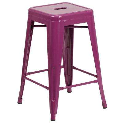 24 in. Purple Bar Stool