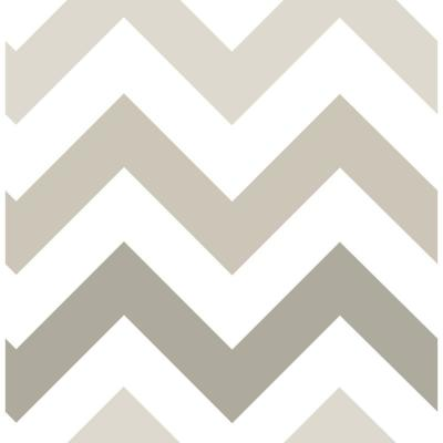 Taupe Zig Zag Peel and Stick Wallpaper Sample