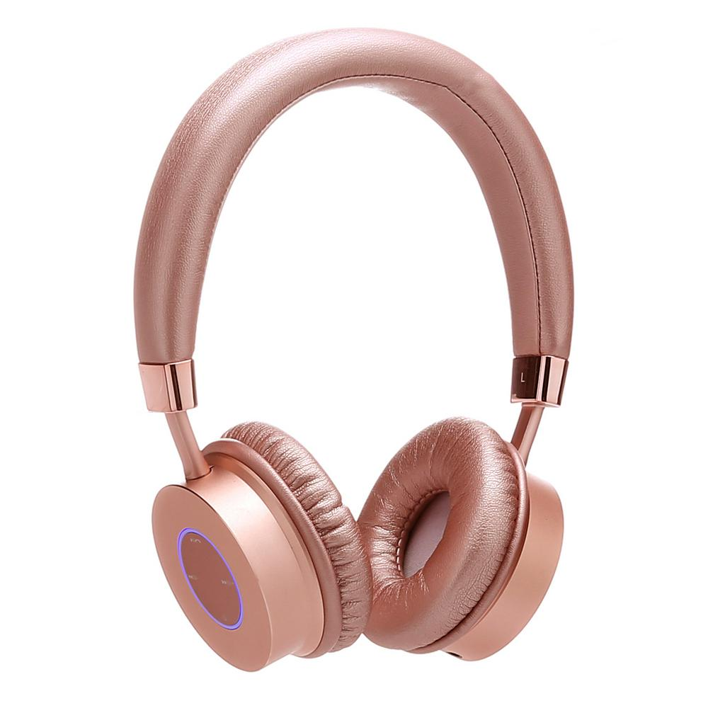 KB300 Kid Safe 85DB Over-the-Ear Wireless Bluetooth LED Headphone w/Volume
