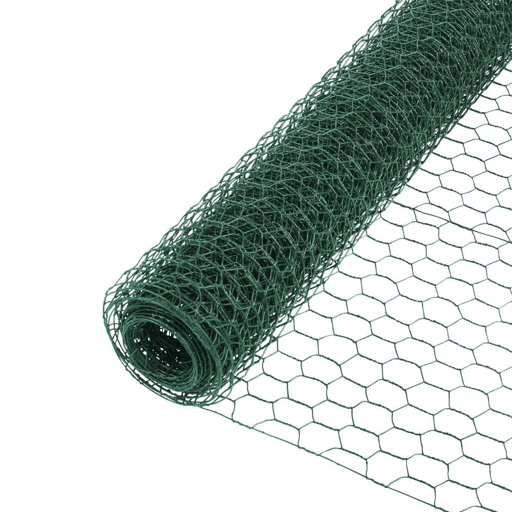 Everbilt 1 In X 2 Ft X 25 Ft Pvc Coated Poultry Netting
