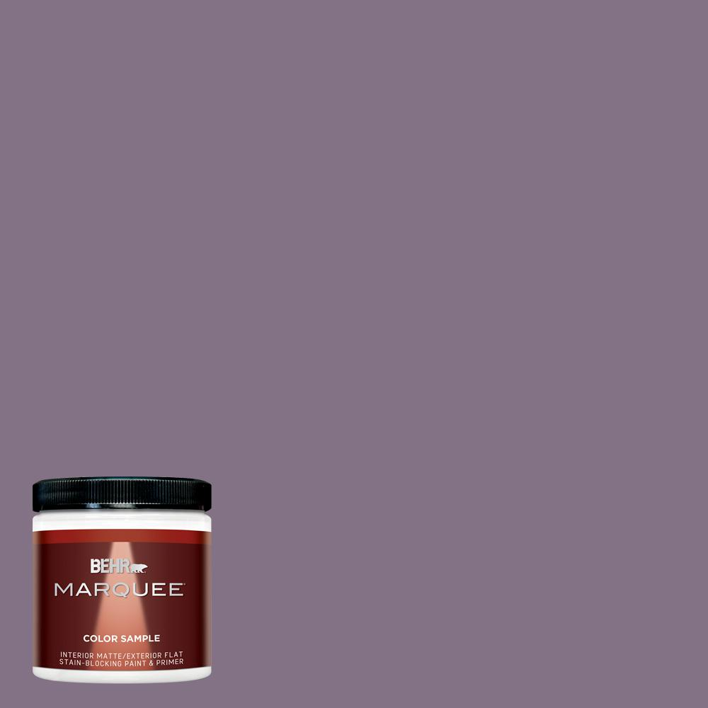 BEHR MARQUEE 8 oz. #HDC-SP14-9 Decorative Iris Matte Interior/Exterior Paint Sample