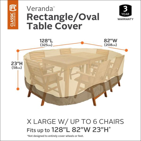 X Large Rectangular Patio Table