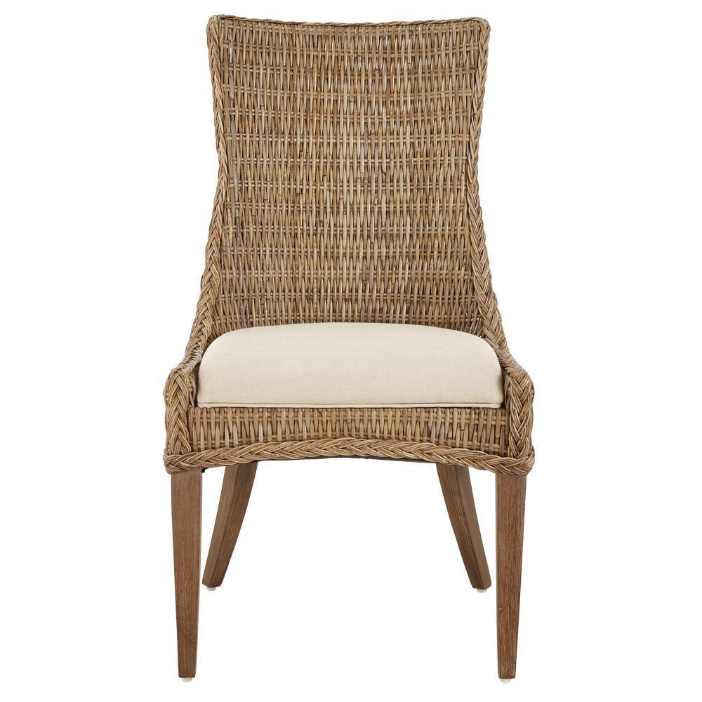 YoW YOW Genie Grey Kubu Wicker Dining Chair (Set of 2), Gray