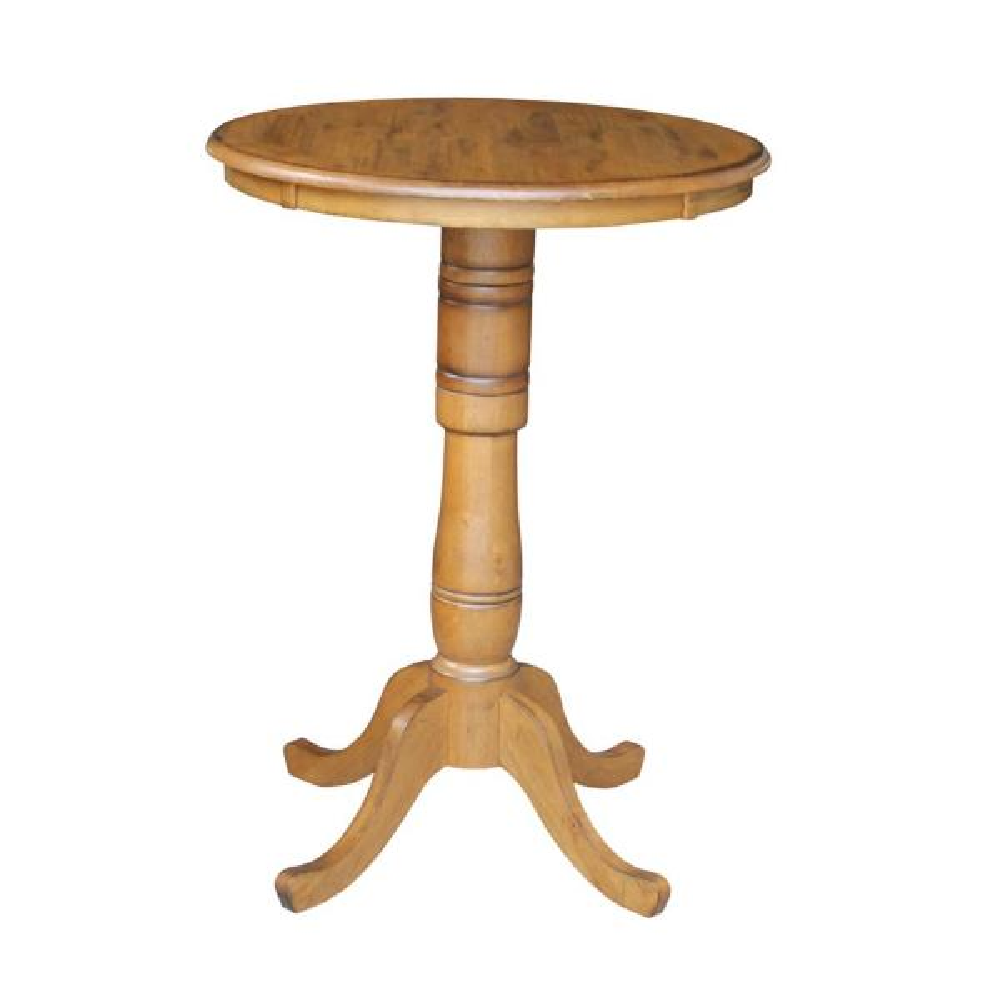 International Concepts Dining Essentials Distressed Pecan Pub Table K59-30RT-6B-2