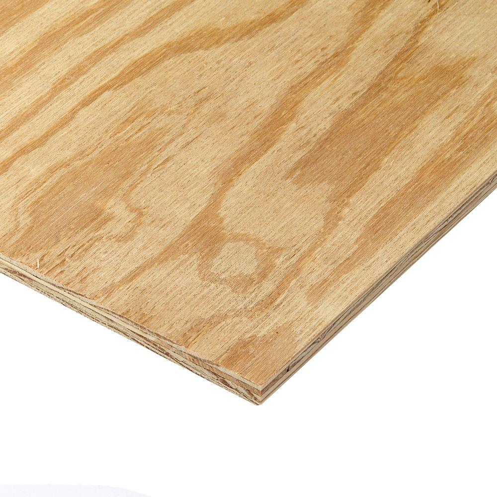 Unbranded 15/32 in. x 4 ft. x 8 ft. Southern Pine Plywood