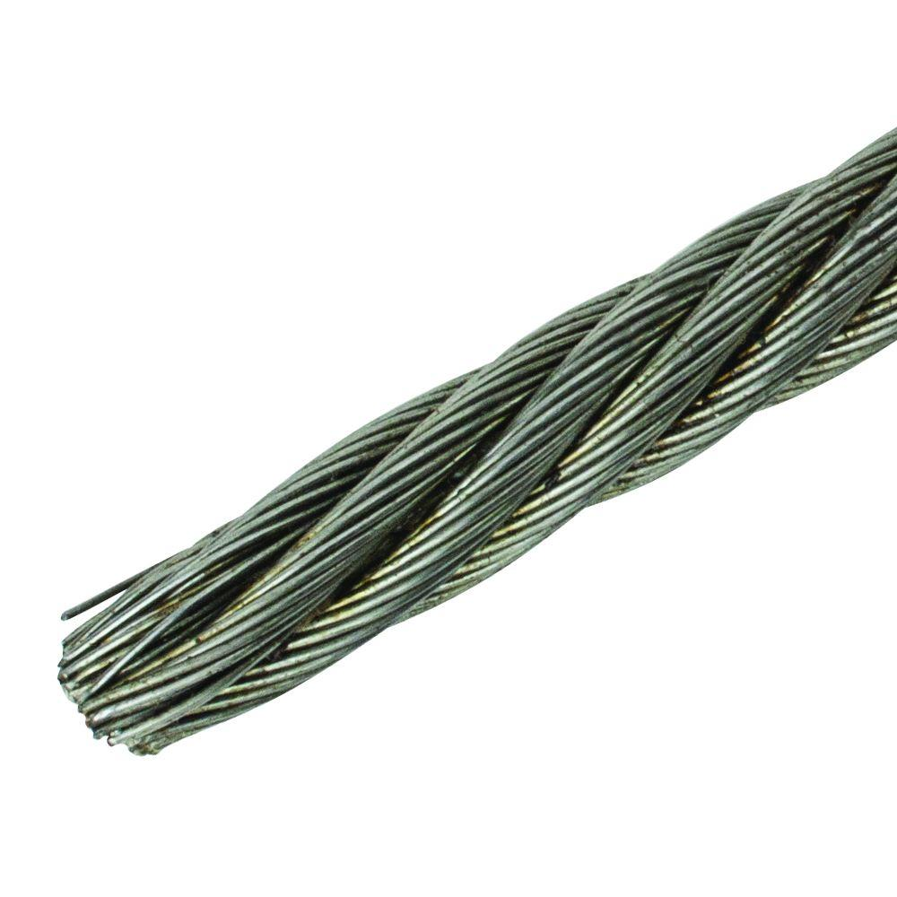 Everbilt 5/16 in. Galvanized Fiber Core Wire Rope-809826 - The Home ...