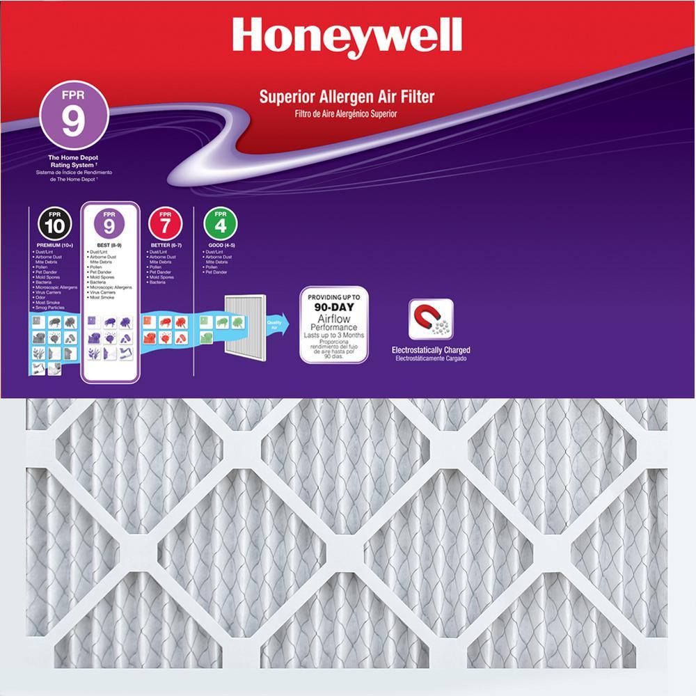 14 in. x 25 in. x 1 in. Superior Allergen Pleated FPR 9 Air Filter