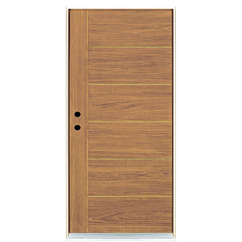 MP Doors 36 in. x 80 in. Contemporary Teak Modern Light Oak Right-  sc 1 st  Home Depot & MP Doors 36 in. x 80 in. Contemporary Teak Modern Light Oak Right ...