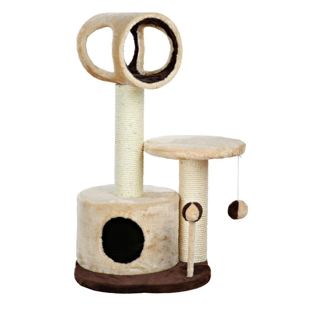 34b2f0ae6307 TRIXIE Beige/Brown Lucia Cat Tree-44760 - The Home Depot