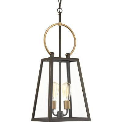 Barnett Collection Antique Bronze 2-Light Outdoor Hanging Lantern