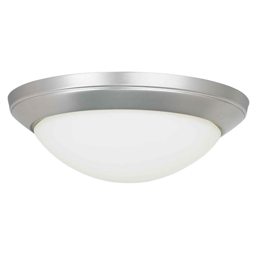 Talista 2-Light Brushed Nickel Flush Mount with Satin Opal Glass