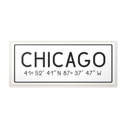 "7 in. x 17 in. ""Plate City Coordinates Chicago"" by Daphne Polselli Printed Wood Wall Art"