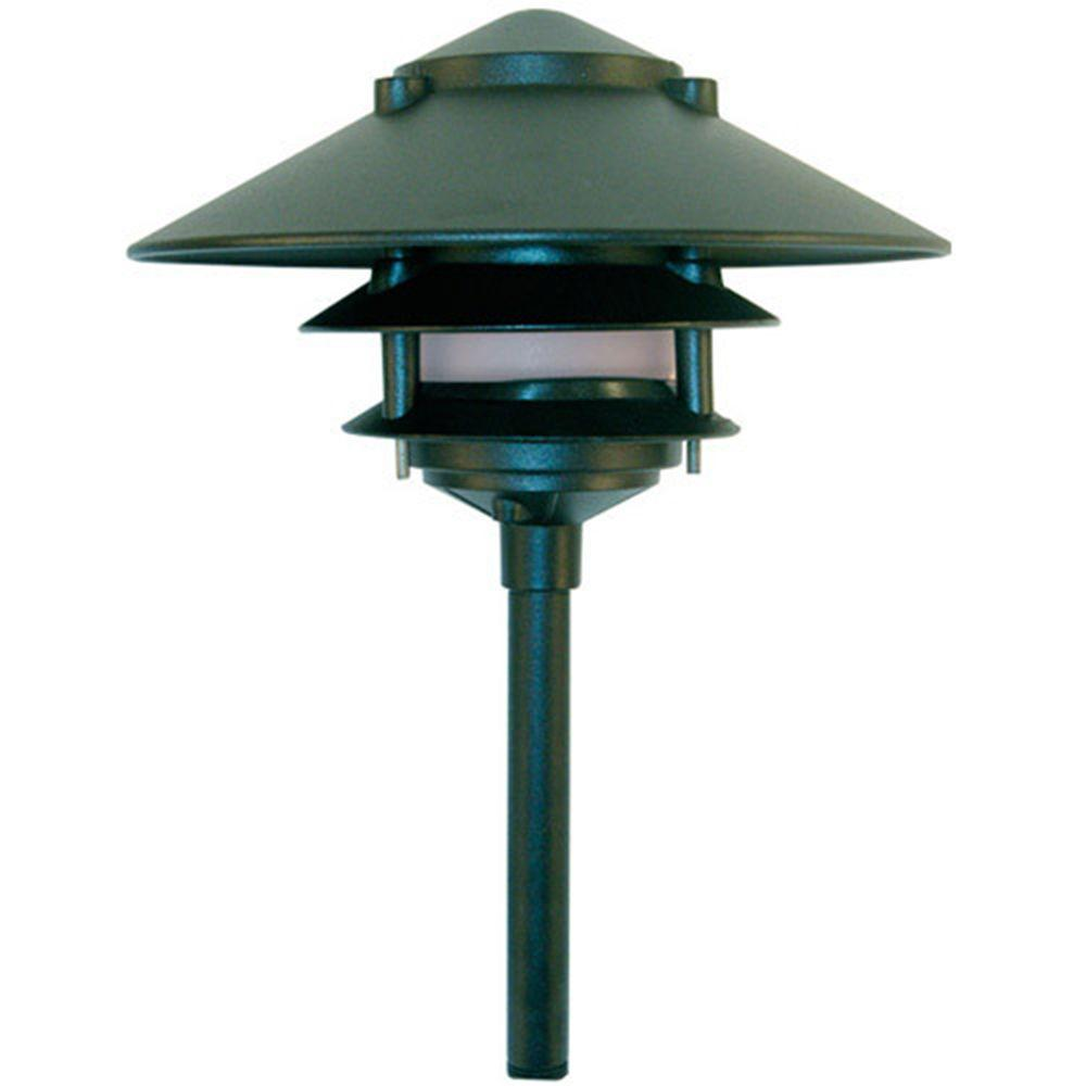 Porch Light Green: Filament Design Corbin 1-Light Green 3-Tier Outdoor Pagoda