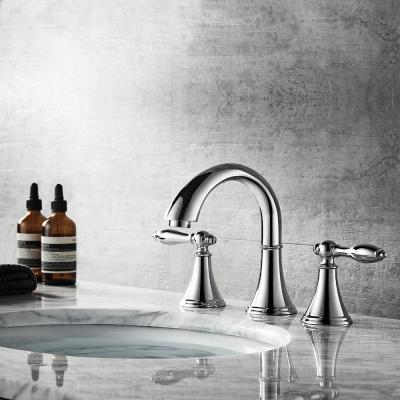 Florence 8 in. Widespread 2-Handle Bathroom Faucet Polished Chrome