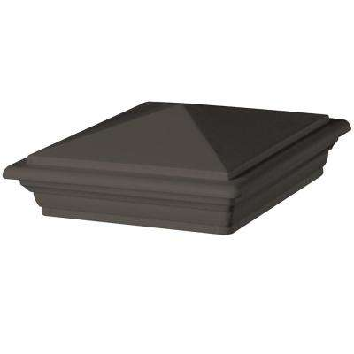 6 in. x 6 in. Bronze Composite Style Point Post Cap