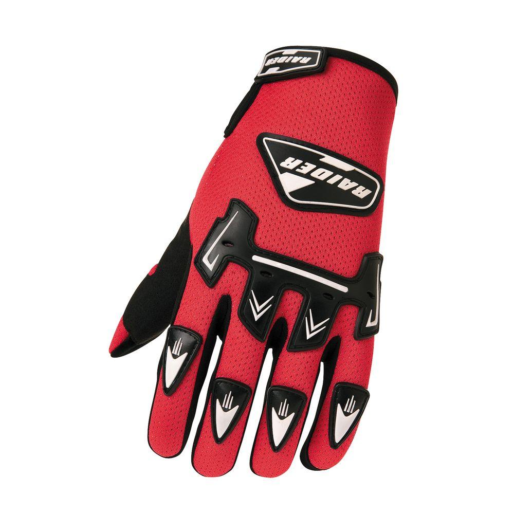 Raider Adult MX 3X-Large Glove in Red