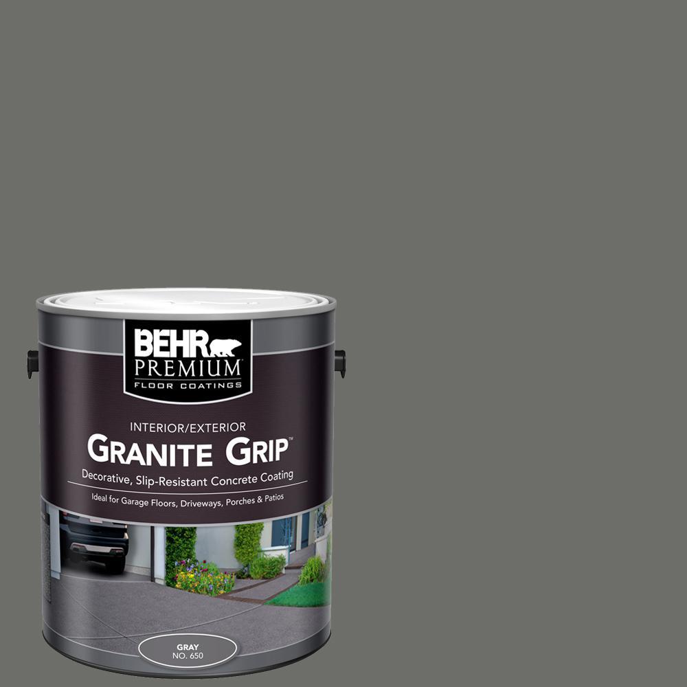 1 gal. #65001 Gray Granite Grip Decorative Interior/Exterior Concrete Floor Coating