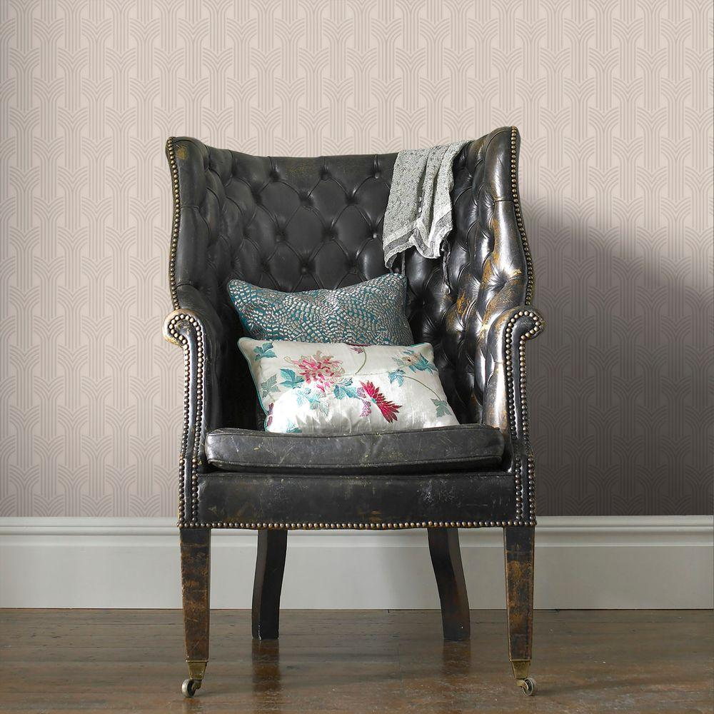 Graham & Brown 56 sq. ft. Cinema Cream Wallpaper