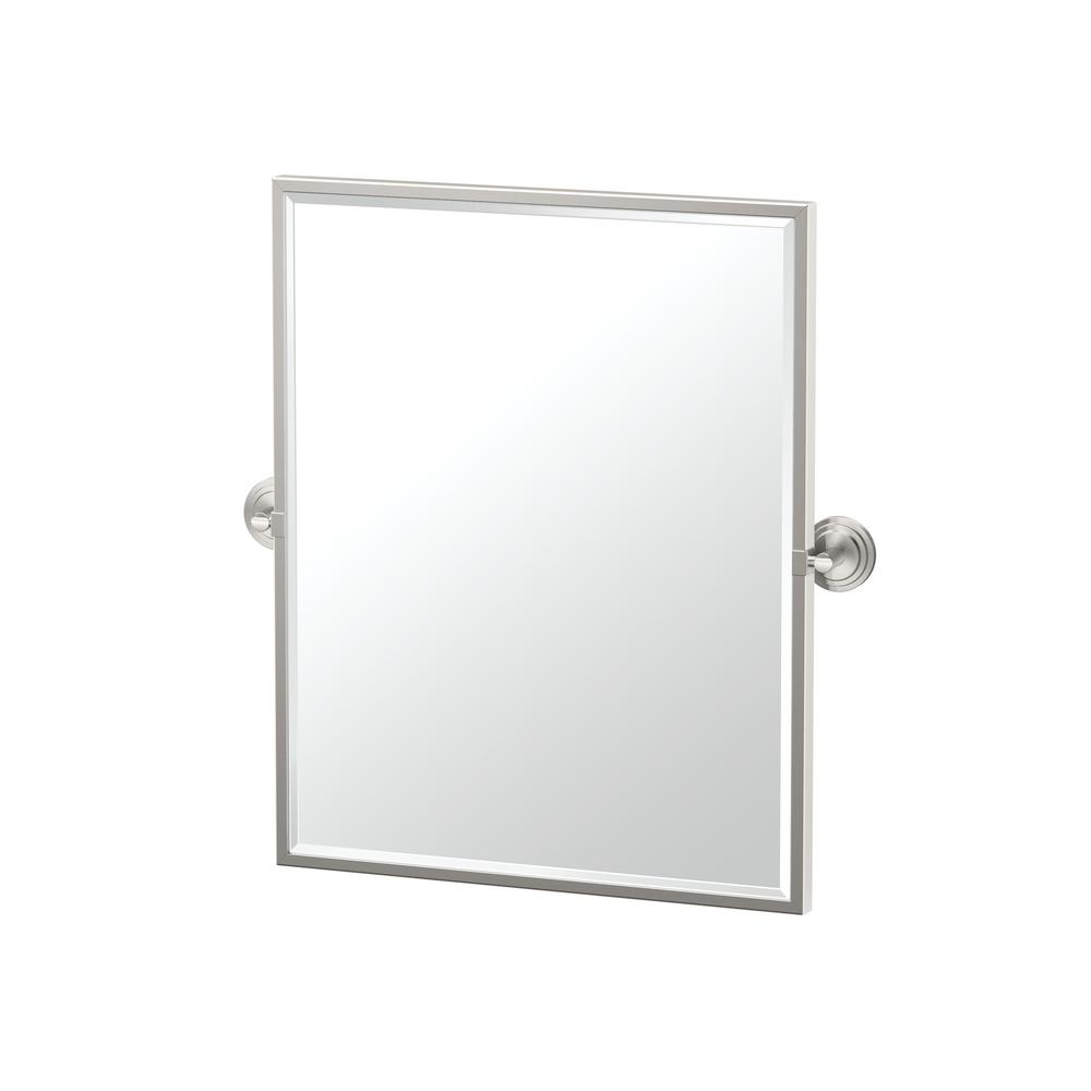 Marina 24 in. x 25 in. Single Framed Small Rectangle Mirror